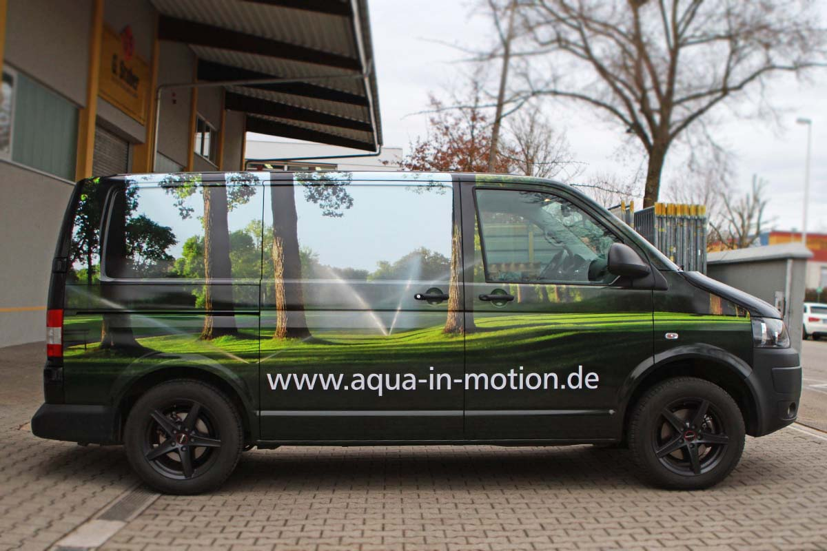 Aqua in Motion Fahrzeugbeschriftung